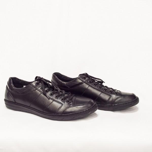 Мъжки  обувки от естествена кожа черни - 49