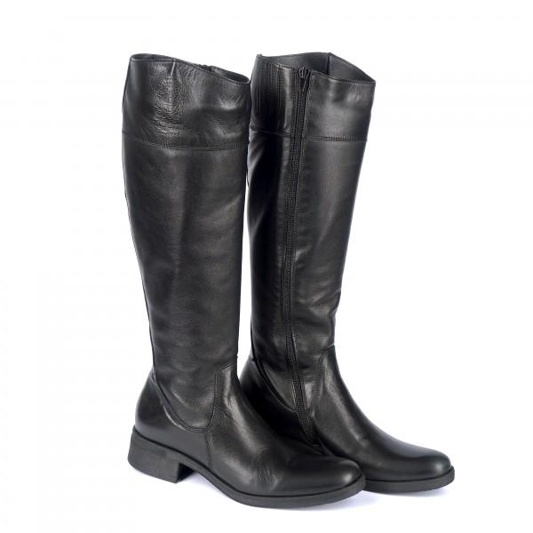 Дамски ботуши от естествена кожа черни - 297