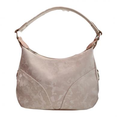 Практична дамска чанта от еко кожа в розово и перлен камуфлаж-1736