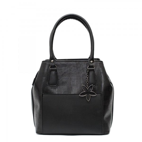 Дамска ежедневна чанта от еко кожа в черен цвят-96