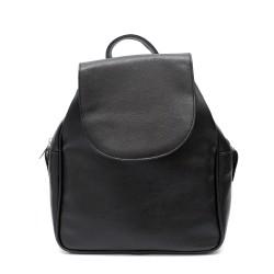 Ежедневна дамска раница в класически черен цвят от еко кожа-319