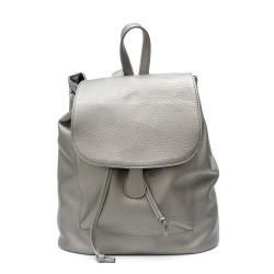 Ежедневна чанта от еко кожа в сив цвят-1625