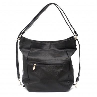 Ежедневна черна дамска чанта от еко кожа-126