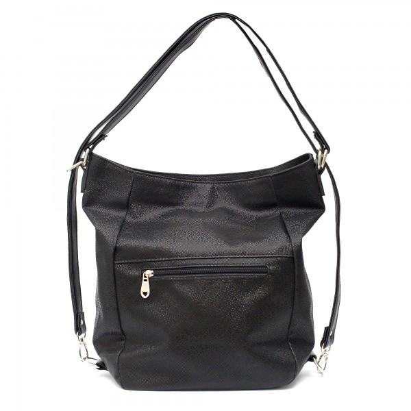 Ежедневна черна дамска чанта от еко кожа-12