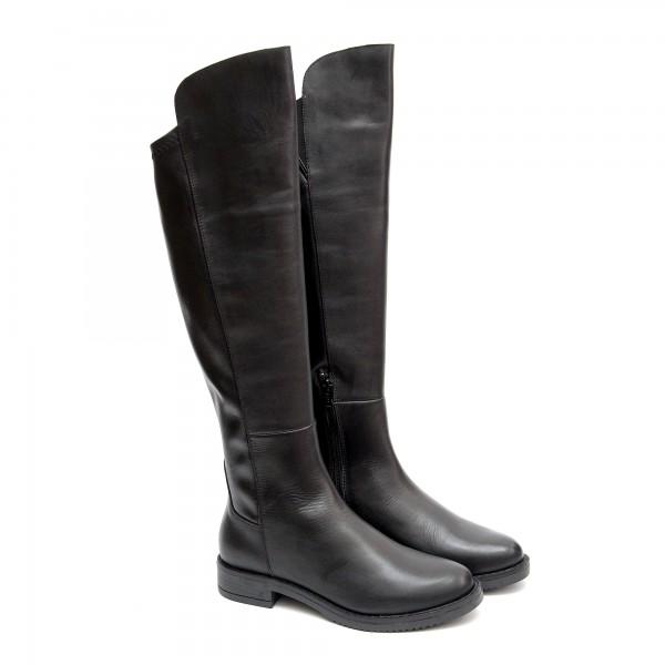 Дамски ботуши от естествена кожа в черен цвят-1405