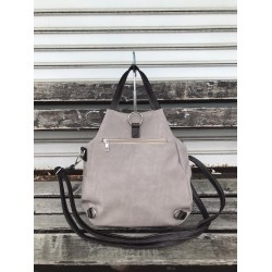 Дамска чанта от еко кожа в цвят капучино-1392