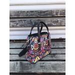Многоцветна дамска малка чанта от еко кожа -1414