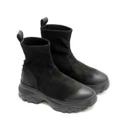 Боти от естествен велур тип- чорап на спортно ходило-1445