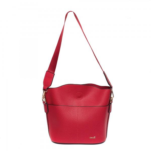 Червена малка дамска чанта от еко кожа-961