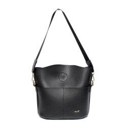 Черна малка ежедневна чанта от еко кожа-0960