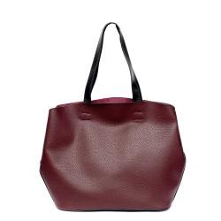 Модерна дамска чанта от еко кожа бордо-0977