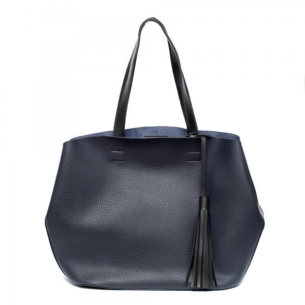 Синя дамска чанта от еко кожа-979