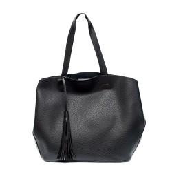Черна дамска чанта от еко кожа-0978