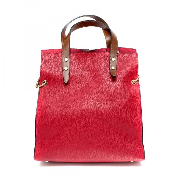 Червена ежедневна дамска чанта от еко кожа-968