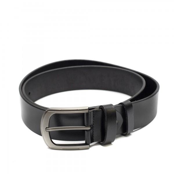 Луксозен дамски колан от естествена кожа в черен цвят-3935-3