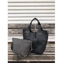 Ежедневна дамска чанта от еко кожа в черен цвят-1492