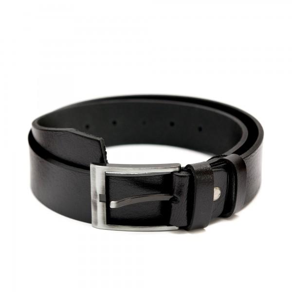 Черен дамски колан от естествена биволска кожа-3456