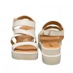 Дамски сандали от естествена кожа слонова кост-819