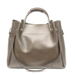 Дамска ежедневна чанта от еко кожа графит-99