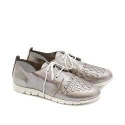 Дамски пролетни обувки от естествена кожа в светло лилав цвят-1203