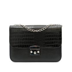 Дамска чанта от еко кожа в черно-1212