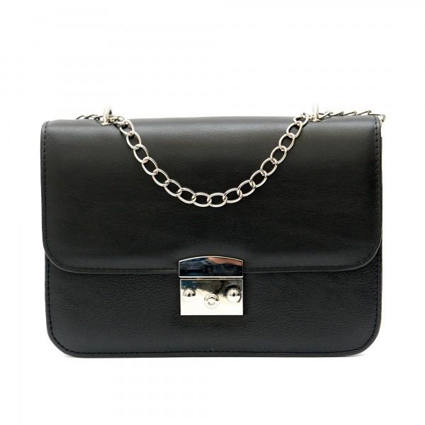 Ежедневна дамска чанта от еко кожа в черно-1212