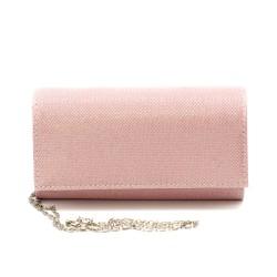 Дамска чанта от еко кожа тип клъч в розов цвят-1215