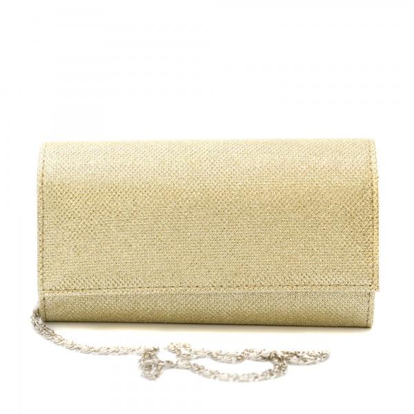 Дамска чанта тип клъч в златисто-1215