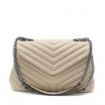 Бежова дамска чанта от еко кожа с модерна визия-7-1512