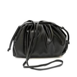 Закачлива дамска чанта от еко кожа в черен цвят -1323