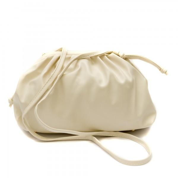 Малка дамска чанта от еко кожа в бежов ретро стил-1325