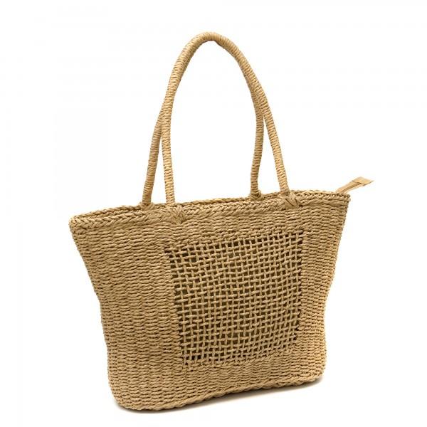Кафява винтидж класическа чанта-1329-3