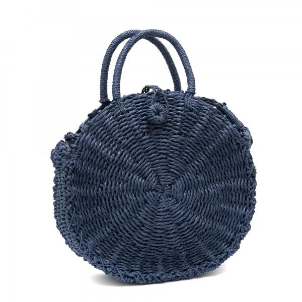 Винтидж класическа чанта в син цвят-1333-2