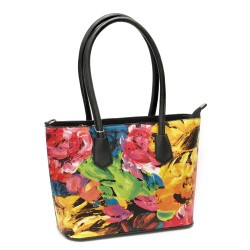Дамска чанта от еко кожа в свежи цветове-1342