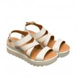 Дамски сандали от естествена кожа на лека платформа-819