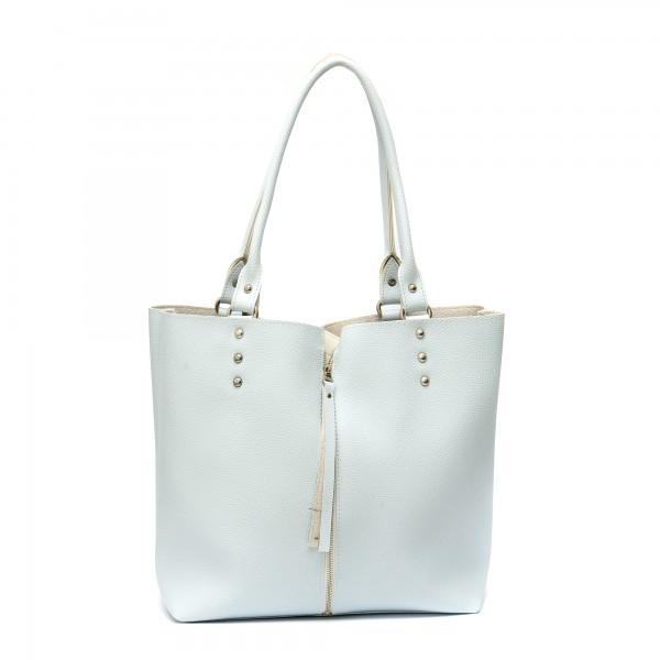 Дамска чанта от еко кожа в свеж син цвят