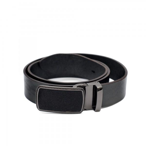 Дамски черен колан от естествена кожа-3779