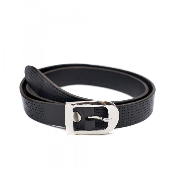 Официален дамски колан в черно от естествена кожа-3780
