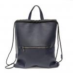Дамска раница-чанта от еко кожа в син цвят-1168-1
