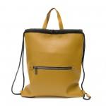 Ежедневна дамска раница-чанта от еко кожа в цвят горцица-1168-2