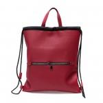 Дамска раница-чанта от еко кожа в червен цвят-1168