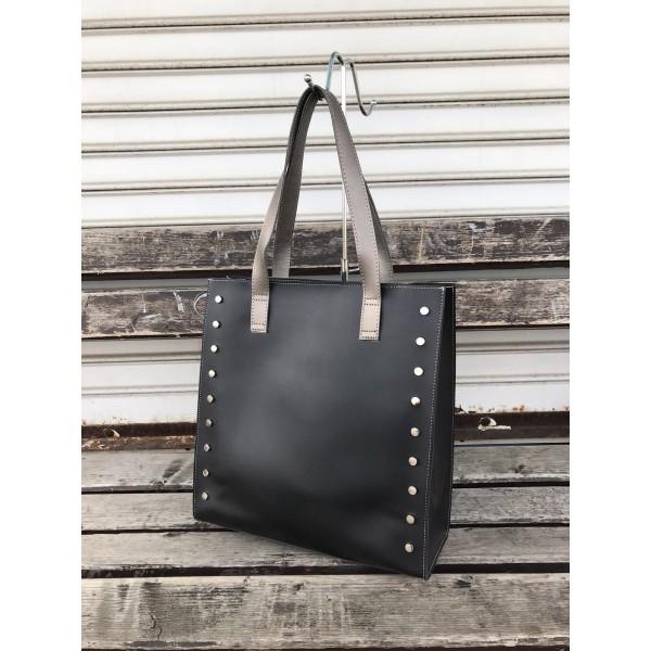 Стилна дамска чанта в черен цвят от еко кожа-233