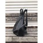 Луксозна  дамска раница от еко кожа в черен цвят-1480