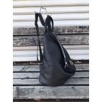 Дамска раница с ефектна визия от еко кожа в черен цвят-1317