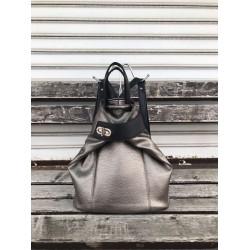 Ежедневна дамска раница в сив цвят от еко кожа-1116