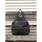 Ежедневна модерна дамска чанта-раница от еко кожа в черен цвят-1392