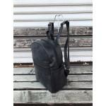 Дамска раница от еко кожа в комбинация черно и сиво-2-1336
