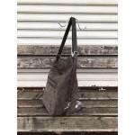 Дамска чанта капучино цвят от еко велур-1503