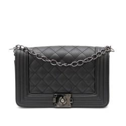Дамска чанта от еко кожа в черно-1132