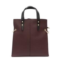 Дамска чанта от еко кожа в бордо-1071
